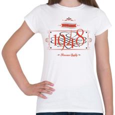 PRINTFASHION since-1948-red-black - Női póló - Fehér
