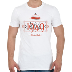 PRINTFASHION since-1949-red-black - Férfi póló - Fehér