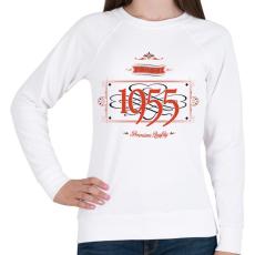 PRINTFASHION since-1955-red-black - Női pulóver - Fehér