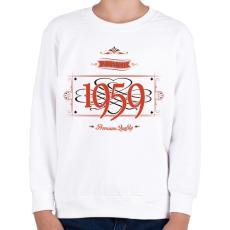 PRINTFASHION since-1959-red-black - Gyerek pulóver - Fehér