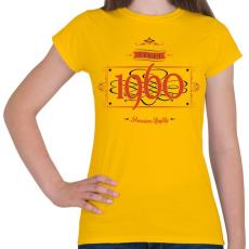 PRINTFASHION since-1960-red-black - Női póló - Sárga