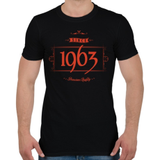 PRINTFASHION since-1963-red-black - Férfi póló - Fekete