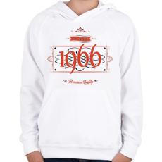PRINTFASHION since-1966-red-black - Gyerek kapucnis pulóver - Fehér