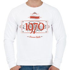 PRINTFASHION since-1970-red-black - Férfi pulóver - Fehér
