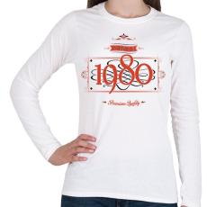 PRINTFASHION since-1980-red-black - Női hosszú ujjú póló - Fehér