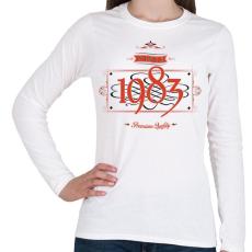 PRINTFASHION since-1983-red-black - Női hosszú ujjú póló - Fehér
