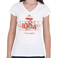 PRINTFASHION since-1984-red-black - Női V-nyakú póló - Fehér