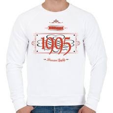 PRINTFASHION since-1995-red-black - Férfi pulóver - Fehér
