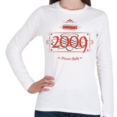 PRINTFASHION since-2009-red-black - Női hosszú ujjú póló - Fehér