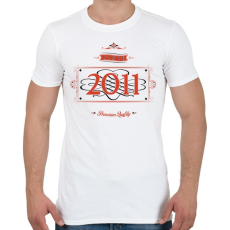 PRINTFASHION since-2011-red-black - Férfi póló - Fehér