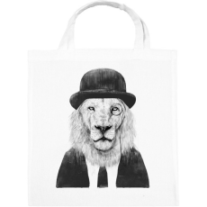 PRINTFASHION Sir lion - Vászontáska - Fehér