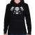 PRINTFASHION Skull Hammer - Női kapucnis pulóver - Fekete