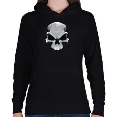 PRINTFASHION Skull - Női kapucnis pulóver - Fekete
