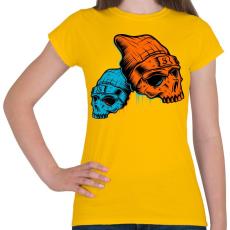 PRINTFASHION Skull - Női póló - Sárga