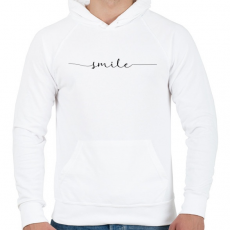 PRINTFASHION smile - Férfi kapucnis pulóver - Fehér