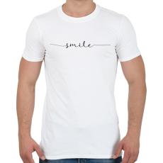 PRINTFASHION smile - Férfi póló - Fehér