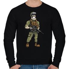PRINTFASHION Soldier - Férfi pulóver - Fekete