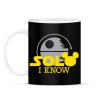 PRINTFASHION Solo I know - Bögre - Fekete