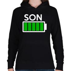 PRINTFASHION SON - Női kapucnis pulóver - Fekete