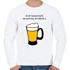 PRINTFASHION sör - Férfi pulóver - Fehér