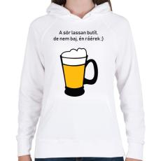 PRINTFASHION sör - Női kapucnis pulóver - Fehér