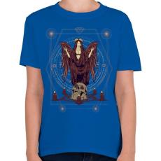 PRINTFASHION Sötét angyal - Gyerek póló - Királykék