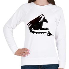 PRINTFASHION Sötét sárkány - Női pulóver - Fehér