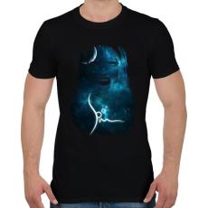 PRINTFASHION spacemascream-01.png - Férfi póló - Fekete