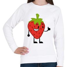 PRINTFASHION Strawberry  - Női pulóver - Fehér