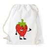 PRINTFASHION Strawberry  - Sportzsák, Tornazsák - Fehér
