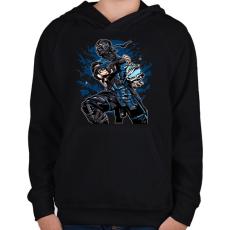 PRINTFASHION Sub Zero - Gyerek kapucnis pulóver - Fekete