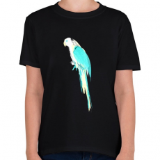 PRINTFASHION Summer parrot - Gyerek póló - Fekete