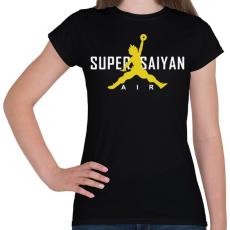 PRINTFASHION Super Saiyan Air - Női póló - Fekete
