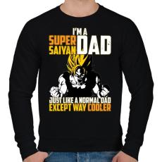 PRINTFASHION Super Saiyan APA - Férfi pulóver - Fekete