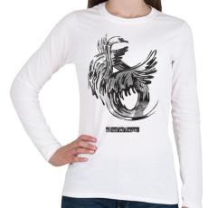 PRINTFASHION Swan - Női hosszú ujjú póló - Fehér