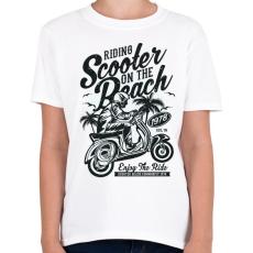 PRINTFASHION Száguldás a tengerparton - Gyerek póló - Fehér