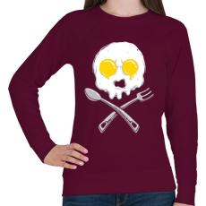 PRINTFASHION Szakácsvégzet - Női pulóver - Bordó
