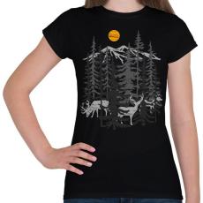 PRINTFASHION Szarvasok - Női póló - Fekete