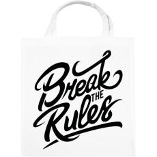 PRINTFASHION Szegd meg a szabályokat!  - Vászontáska - Fehér