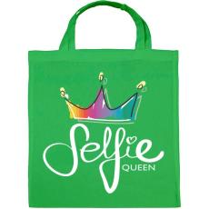 PRINTFASHION Szelfi királynő - Vászontáska - Zöld