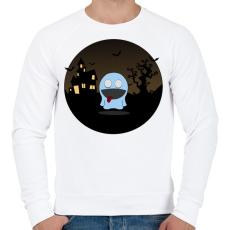 PRINTFASHION Szellem - Férfi pulóver - Fehér