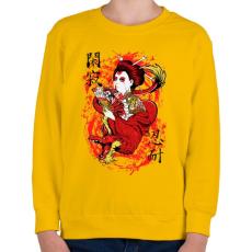PRINTFASHION Szellemsárkány - Gyerek pulóver - Sárga
