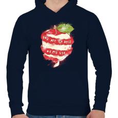 PRINTFASHION Szemem almája - Férfi kapucnis pulóver - Sötétkék