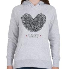 PRINTFASHION Szerelem pecsétje - Női kapucnis pulóver - Sport szürke