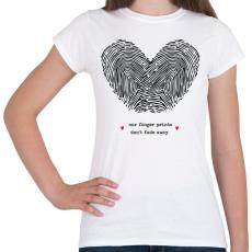 PRINTFASHION Szerelem pecsétje - Női póló - Fehér