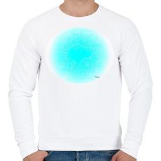 PRINTFASHION Szerelmes szivek 3 - Férfi pulóver - Fehér