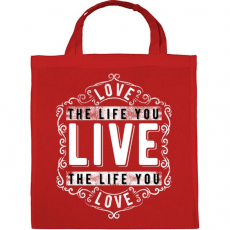 PRINTFASHION Szeresd az életet, amit élsz.  - Vászontáska - Piros