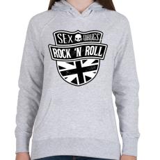 PRINTFASHION Szex, drog és rock and roll - Női kapucnis pulóver - Sport szürke