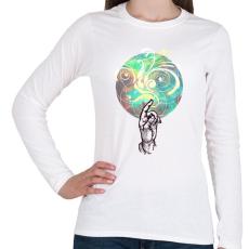 PRINTFASHION színek - Női hosszú ujjú póló - Fehér