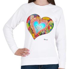 PRINTFASHION sziv2 - Női pulóver - Fehér